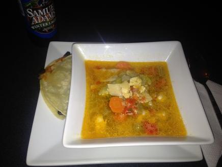 Chicken Tortilla Soup with Black Bean Quesadillas