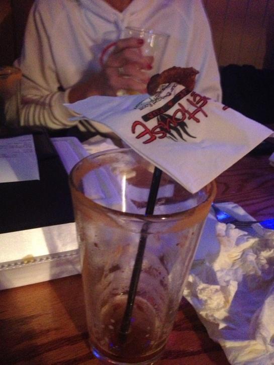 My improvised umbrella drink -- thanks Michele :)