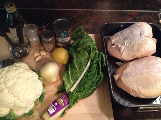 Prep work for Lemon Herb Chicken