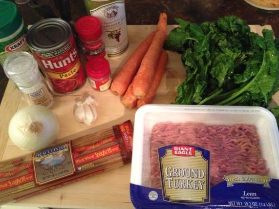 Bologense ingredients -- sorry Emily :)