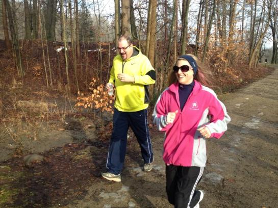 Vicki and Ed hitting the trails