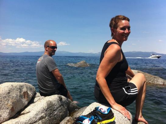 Kevin and Janet - chilling at Lake Tahoe