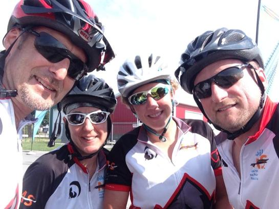 Denny, Tim, Kerri, and Theresa --- 100 miles done!!