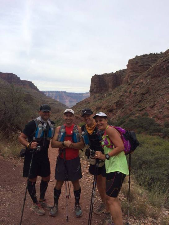 Mike, Dave, Des and myself - heading out onto North Kaibab