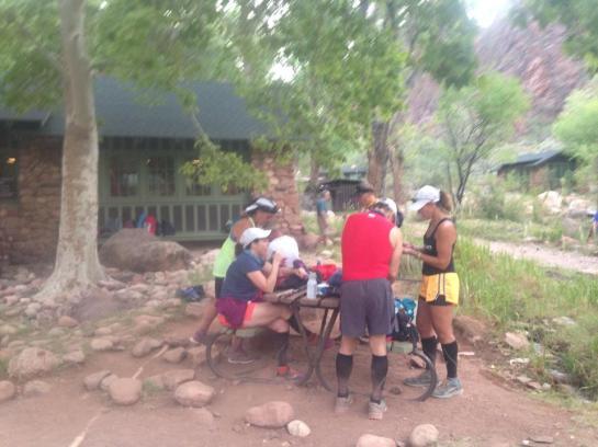 Eating at Phantom Ranch